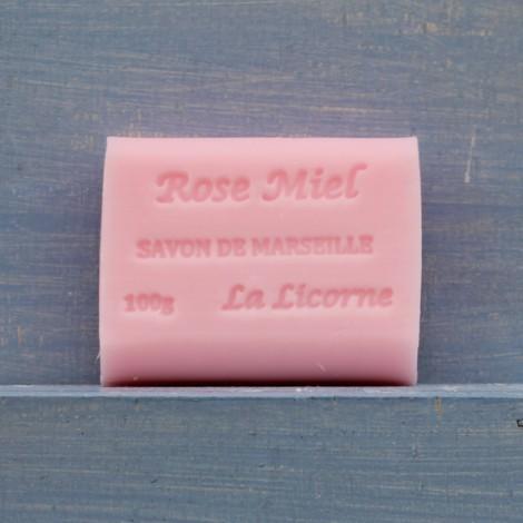 ROSA e MIELE Saponetta di Marsiglia 100g