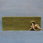 Trancio di sapone di Marsiglia OLIVE con corda (circa 280g)